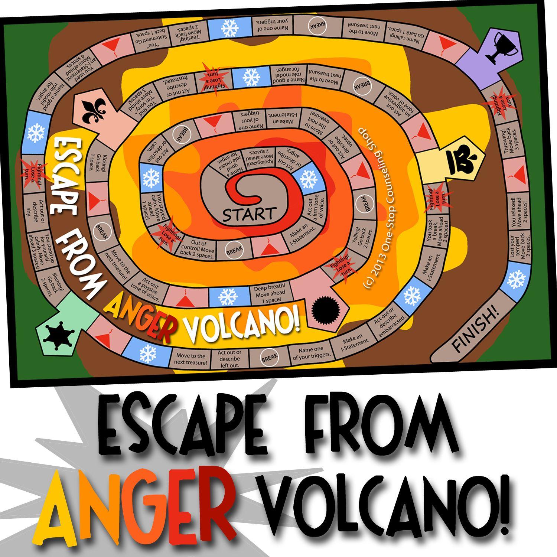 Escape From Anger Volcano School Social Work Pinterest