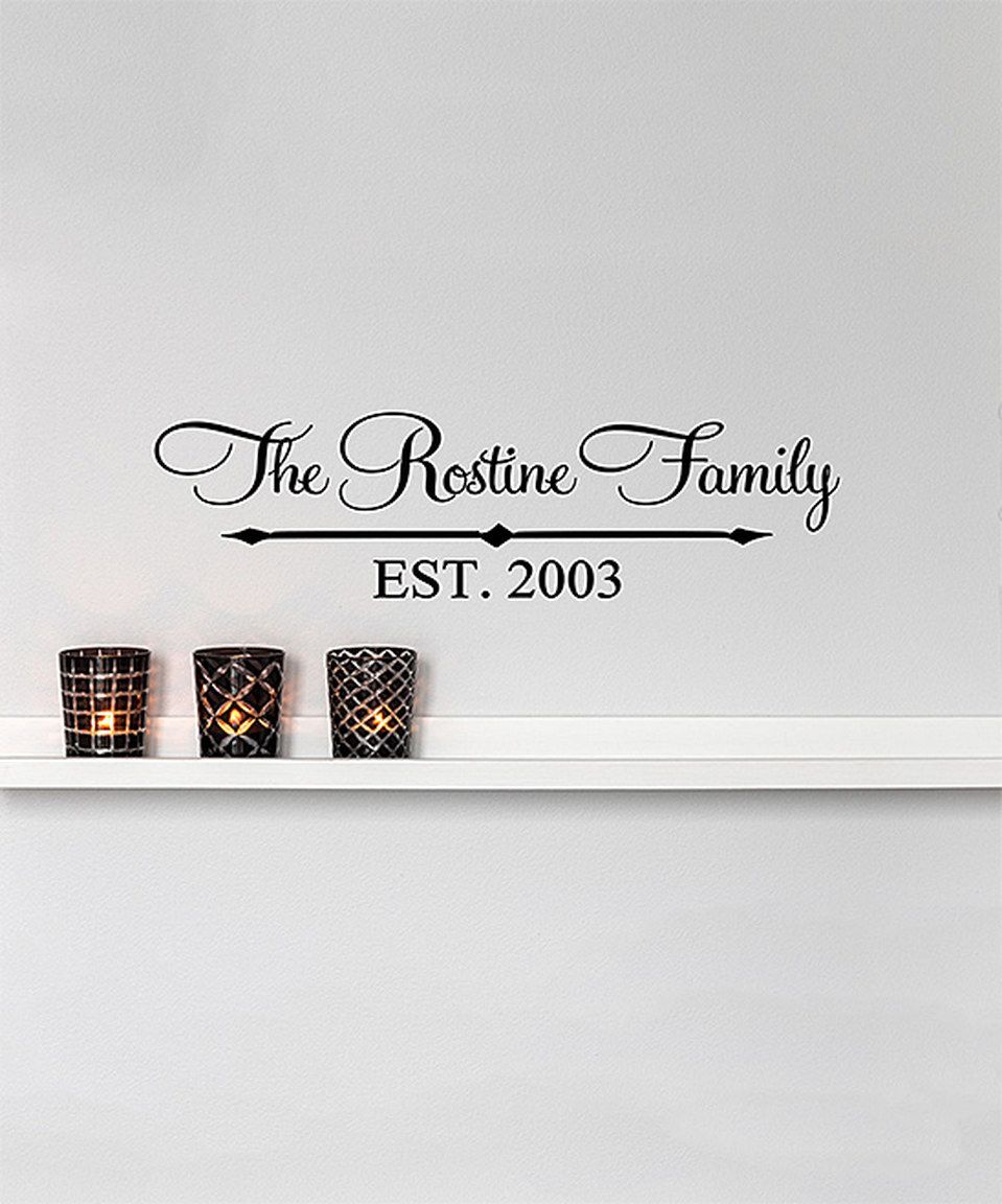 Another great find on #zulily! Name & Year Established Arrows Personalized Decal by TheVinylCompany #zulilyfinds