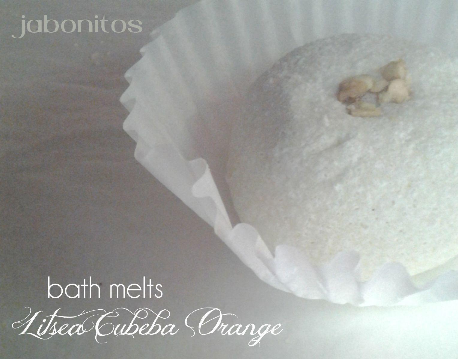 delicate bath truffle with pure natural (organic) essential oils of litsea cubeba and sweet orange YUM!