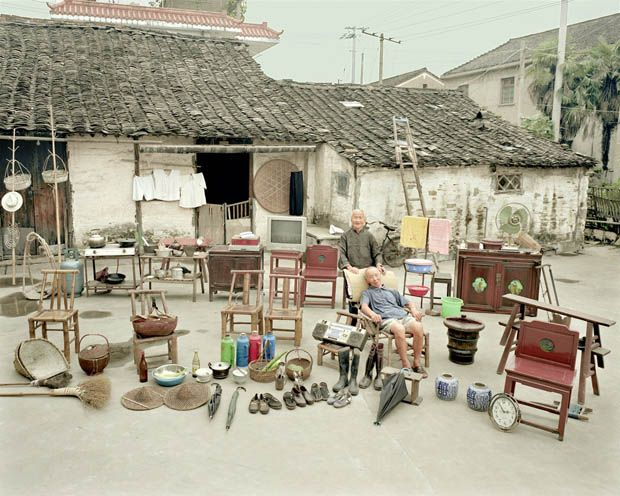 Portraits of Rural Chinese Families Posing with Everything They Own
