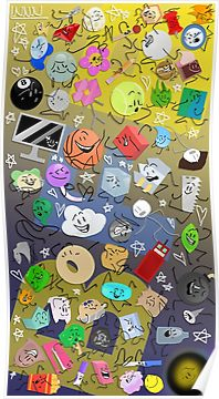 Battle For Bfdi Poster By Nininiino Poster Wall Art Sell Your Art Battle