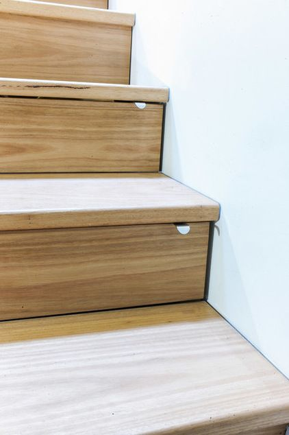 stair drawers-Contemporary by Zugai Strudwick Architects you would deff get the hang of closing ...