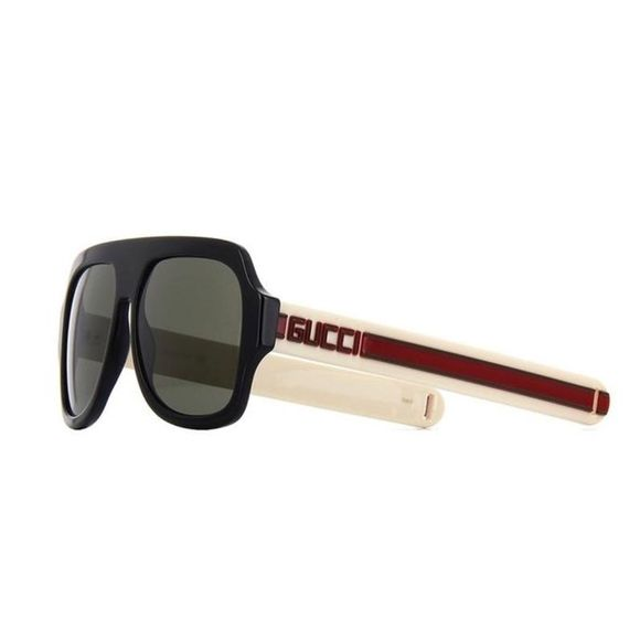 48bcf510832 Gucci 0255S001 Black Ivory Red Grey Sunglasses Gucci 0255S 001 Black Ivory  Red Grey Sunglasses Authentic and brand new with original case Gucci  Accessories ...