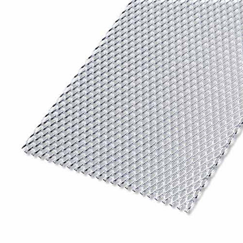 Tôle Aluminium Métal Déployé Brut Argent L60 X L100 Cm Ep