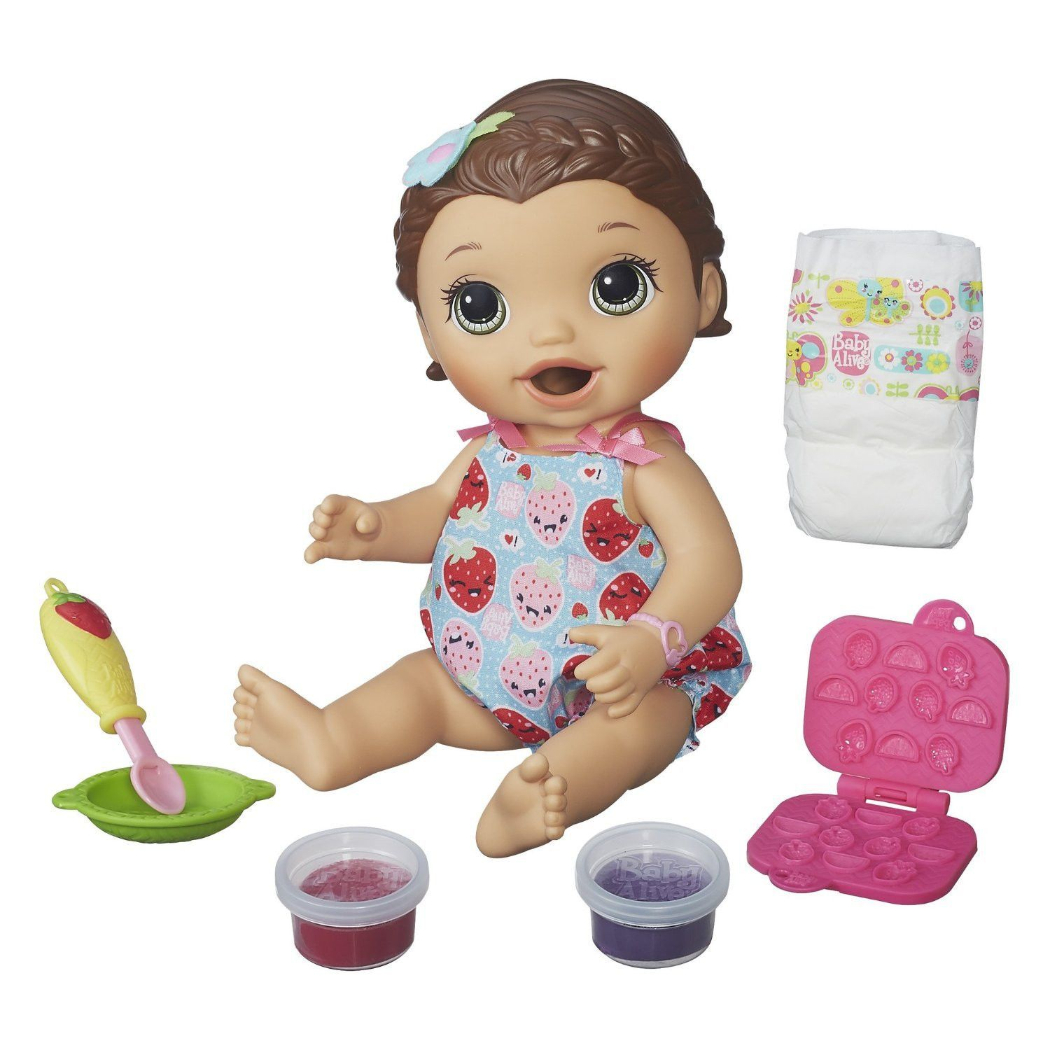 Baby Alive Interactive Talking Baby Doll Super Snacks Lily Brunnette Only 5 In Stock Order Today Product Descript Best Baby Doll Baby Alive Dolls Super Snacks