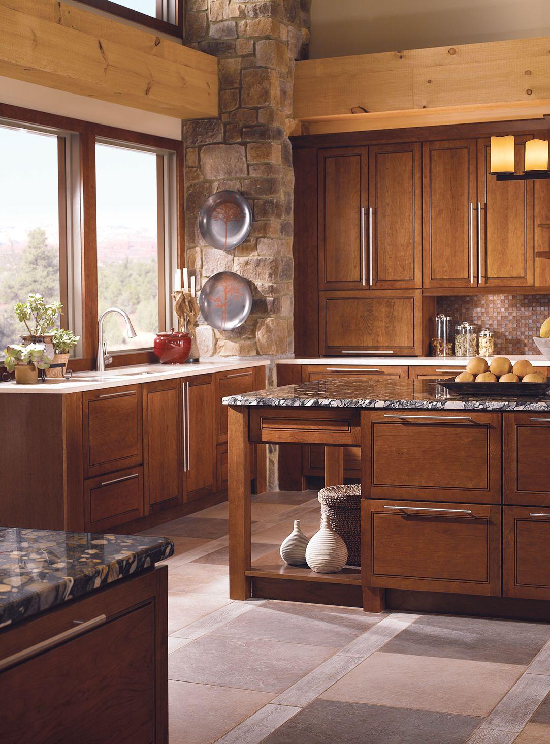 Best Kraftmaid Mandolay Cherry Cognac Cabinet Kraftmaid 640 x 480