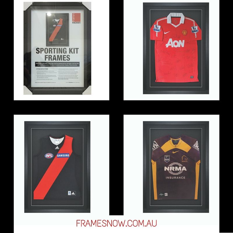 Immortalize the glory of your team with our sporting kit frames ...