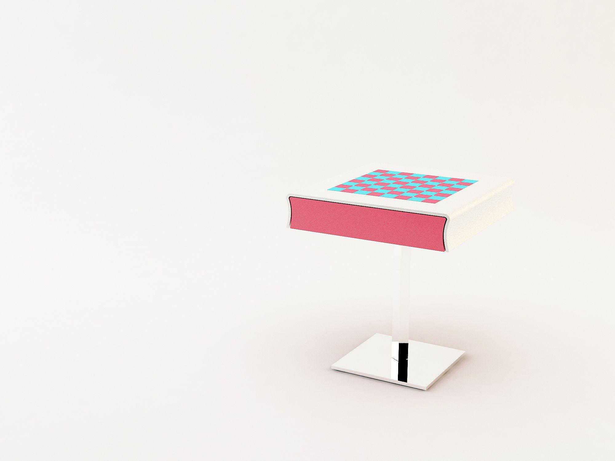 CHECKERS TABLE - Home Collection, Milan, 2010.  Demis Valle / Giorgio Mirri