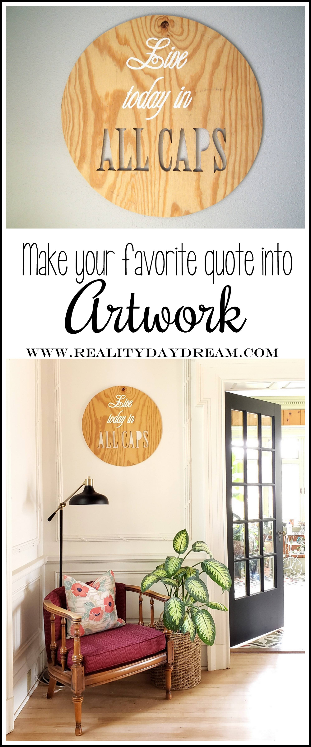 DIY Plywood Quote Artwork | Home decor, Plywood walls, Diy ...