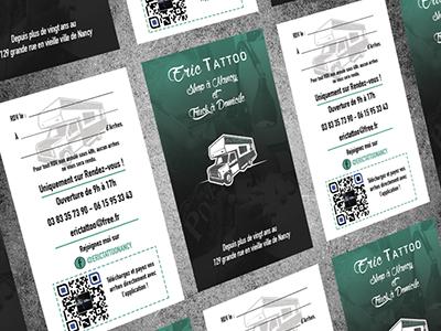 Realisation Dune Carte De Visite Pour Un Tatoueur Au Format Americain 9x5