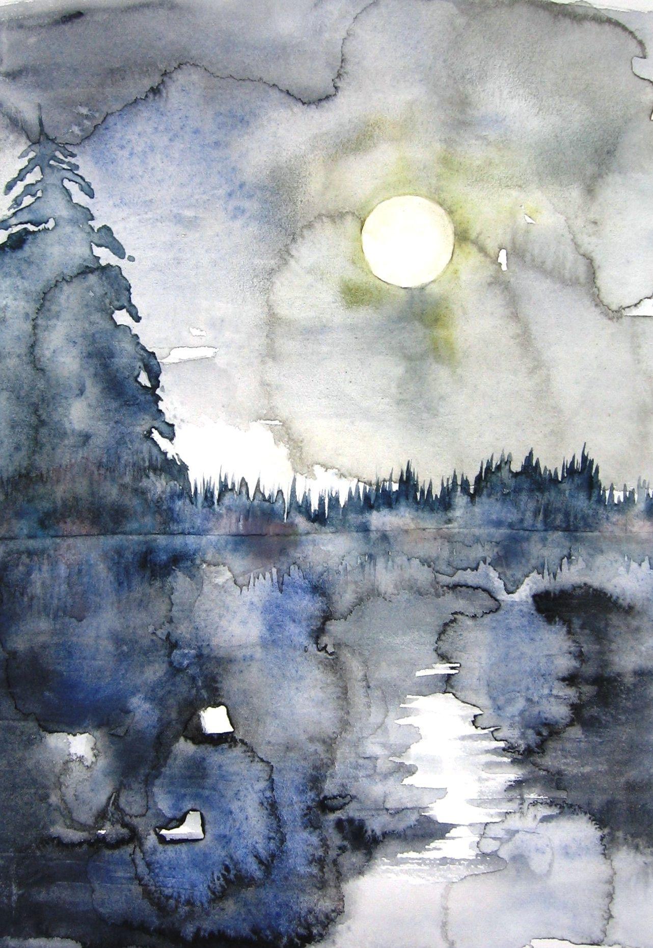 moonlight on river by BlueCaroline.deviantart.com on @DeviantArt