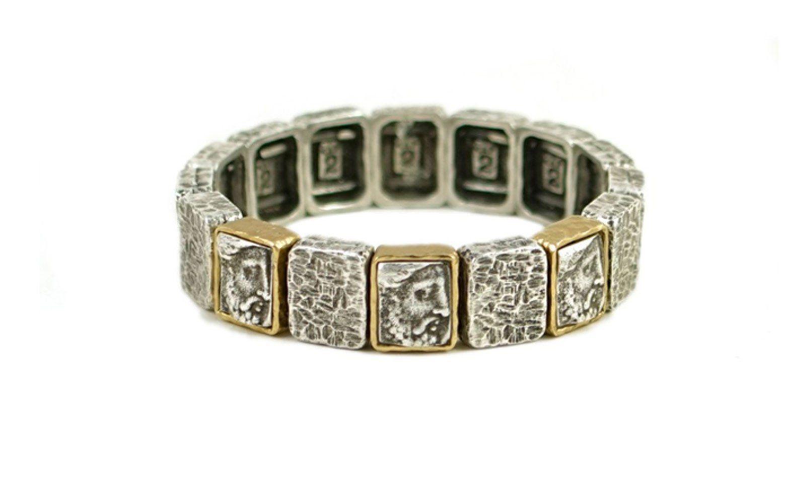 Tat designs vintage silver cloch roman man bracelet vintage