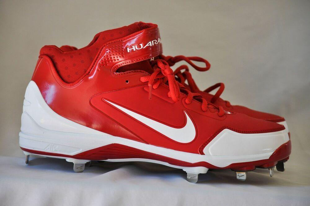 brand new dff9f f3170 Nike Men s Air Huarache 2K Fresh Metal Baseball Cleats Red White size 13 D  NEW  Nike