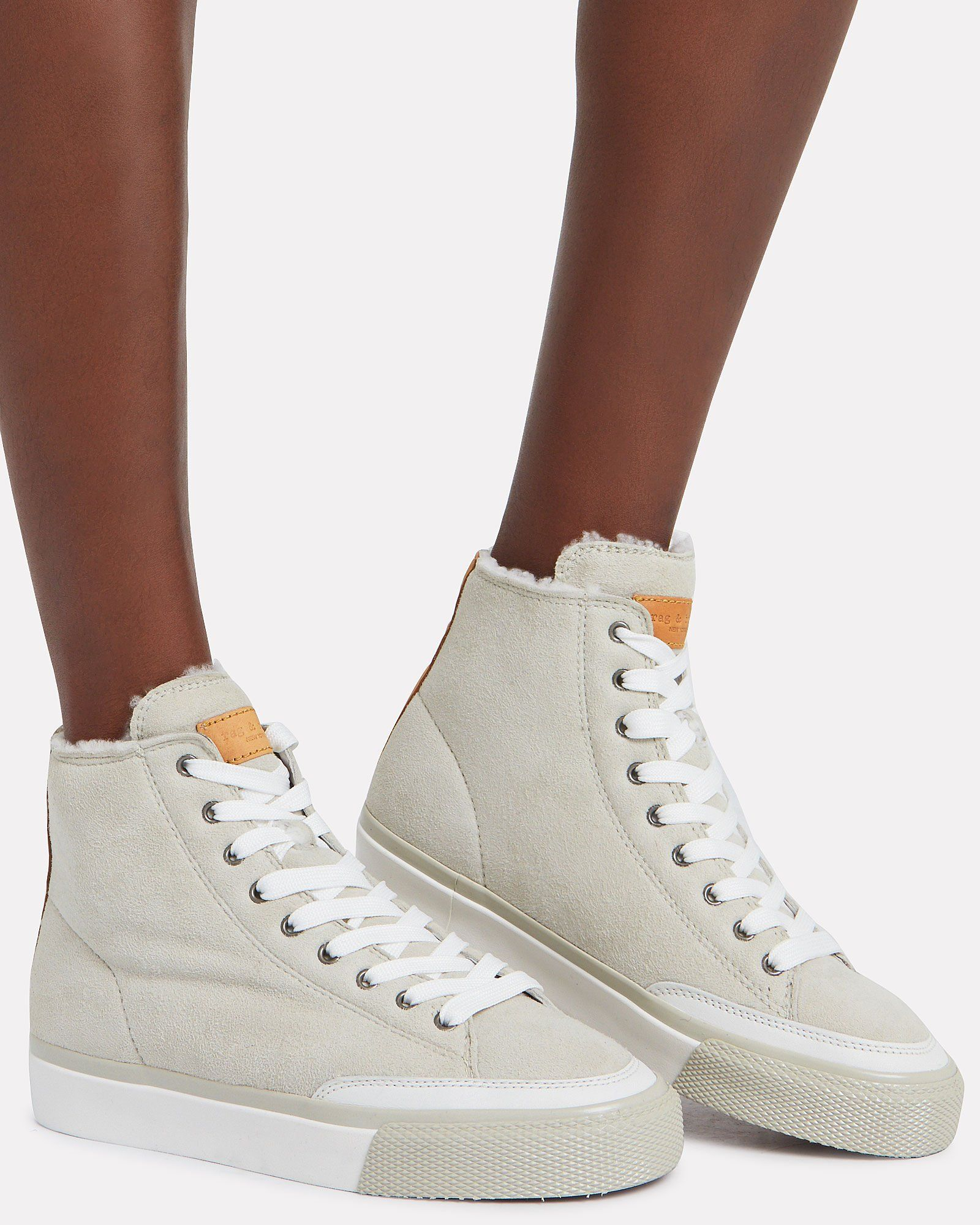 Rb Suede Shearling-Lined High-Tops