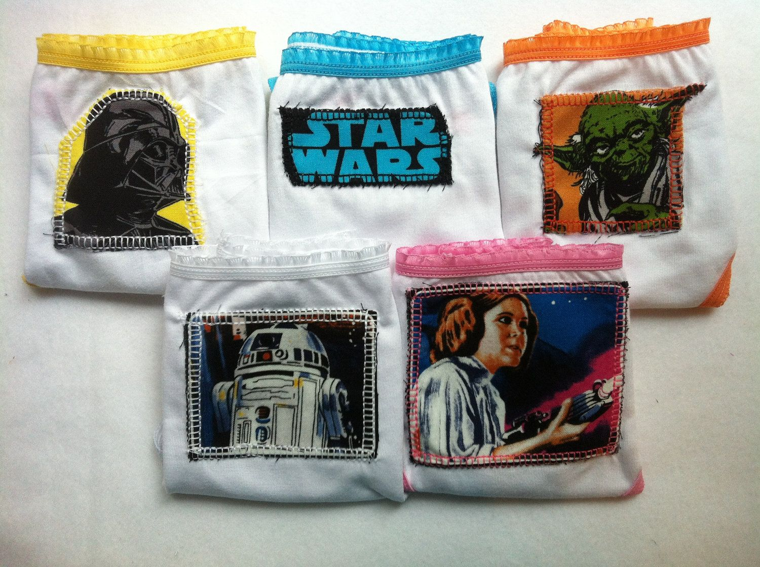 46ef40a22582c Did I just find GIRL underwear with Star Wars on it? I did (thanks to this  mom who took matters into her own hands and sews handmade fabric appliques  ...