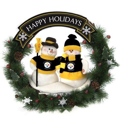 steelers xmas   Buy NFL Pittsburgh Steelers 20in. Snowman Christmas Wreath  Online - Steelers Xmas Buy NFL Pittsburgh Steelers 20in. Snowman Christmas