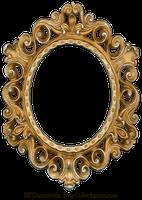 Marco del oro y de la plata del vintage - oval por EveyD