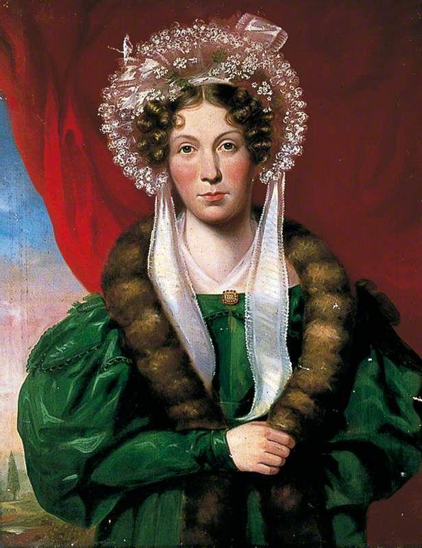 Unknown Lady In A Green Dress C 1838 1842 Green Dress Art Dress Art