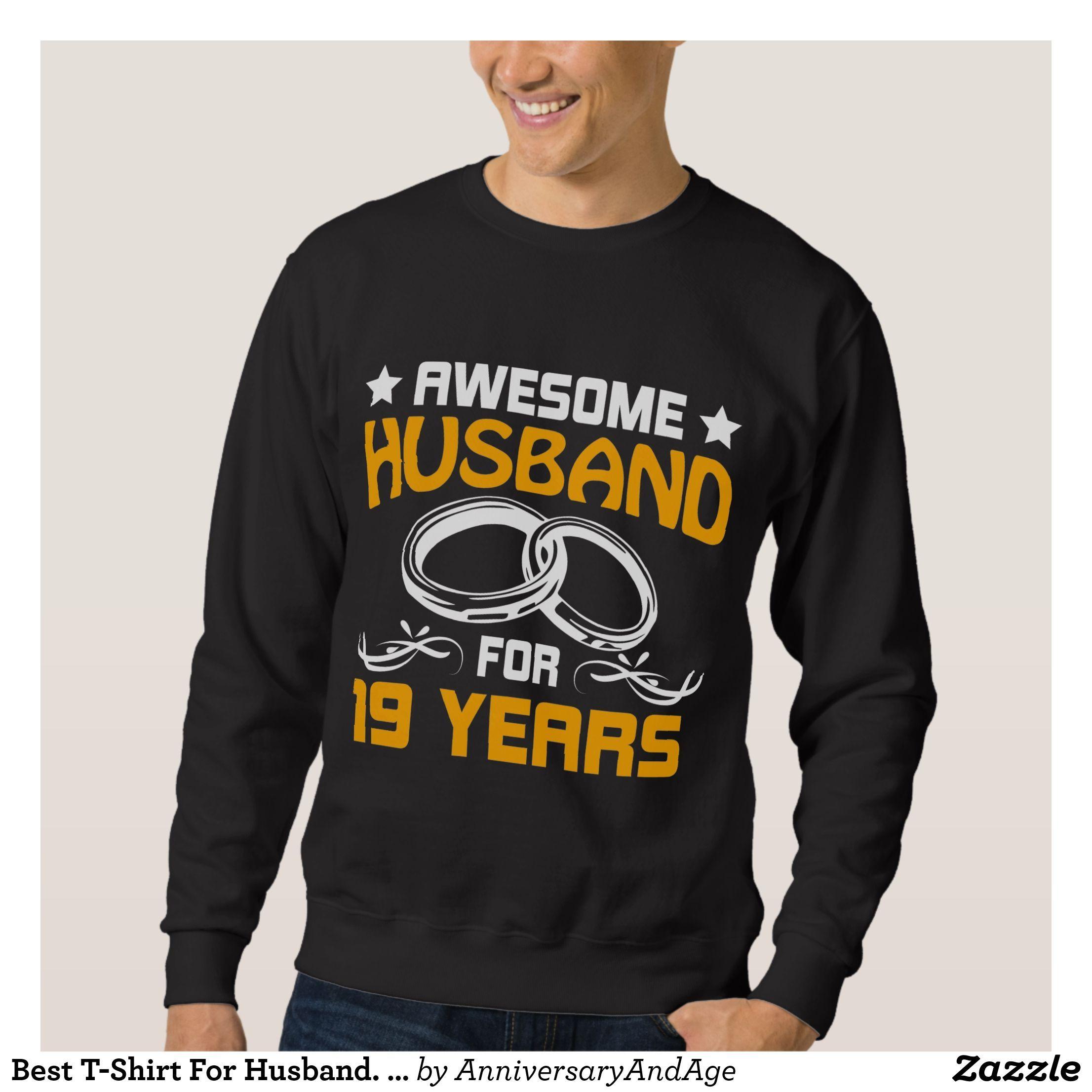 Best TShirt For Husband. 19th Anniversary Gift. Zazzle