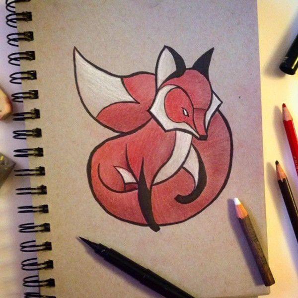 Animals On Behance. Cute Little Fox