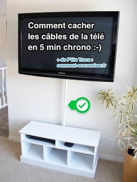 Comment Cacher Les Cables De La Tele En 5 Min Chrono Cache Cable Cacher Cable Tv Cacher Fils