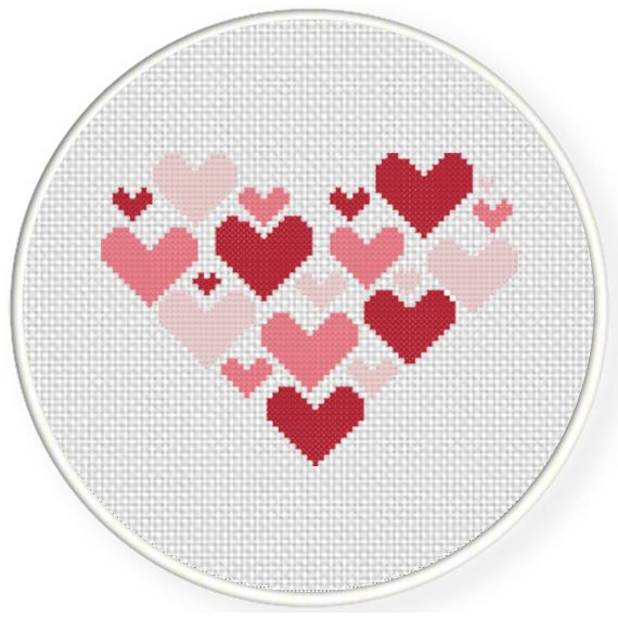 Charts Club Members Only: Hearts On Heart Cross Stitch Pattern ...