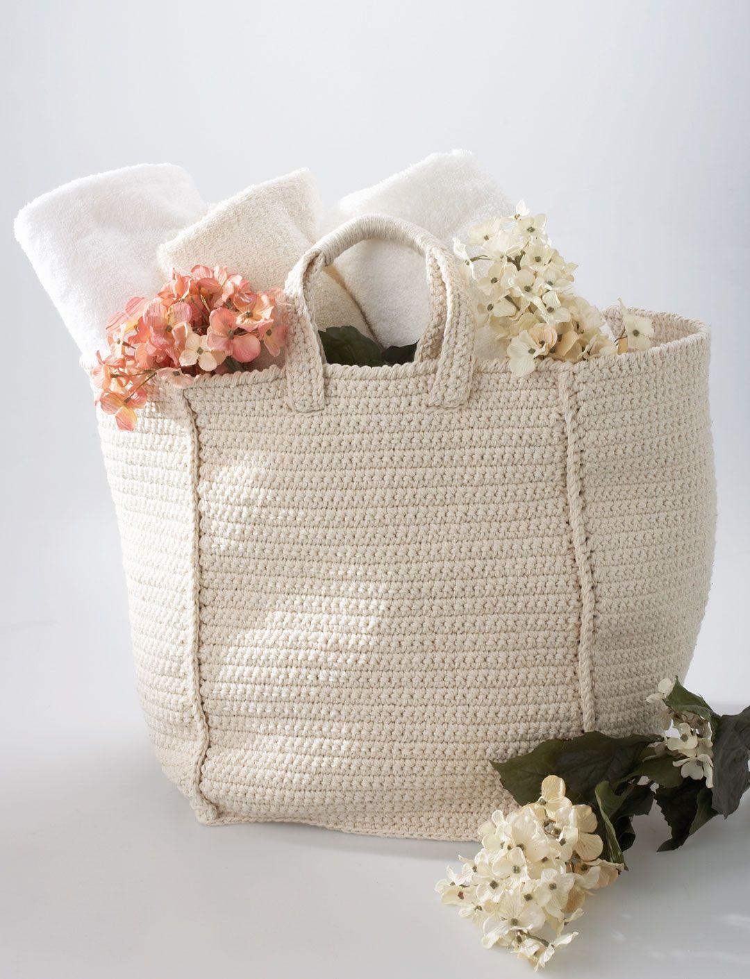 Cottage Bag   Yarn   Free Knitting Patterns   Crochet Patterns   Yarnspirations