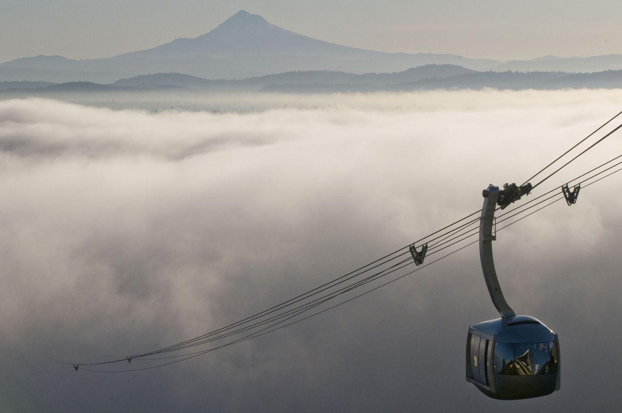 The Ohsu Tram Heads Up From The Fog Oregon Scenery Oregon Travel Oregon Photography