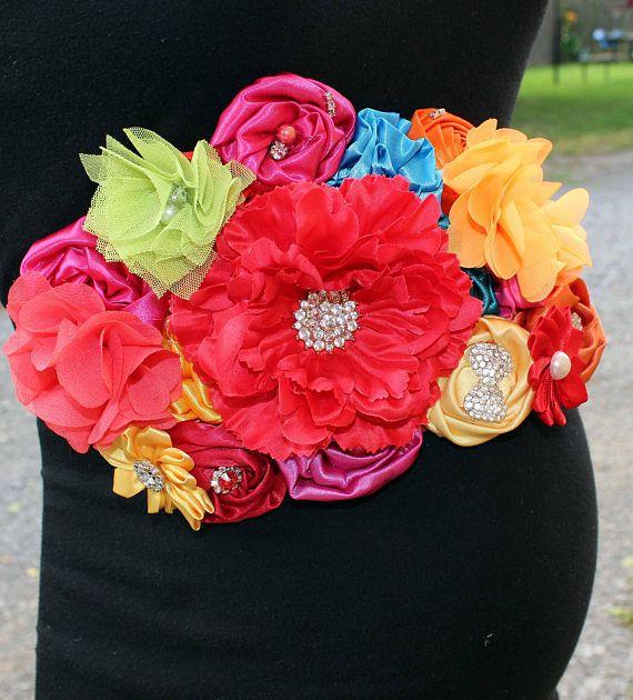Marco Maternidad Fiesta Mexicana Ducha Bebe Multicolor Faja