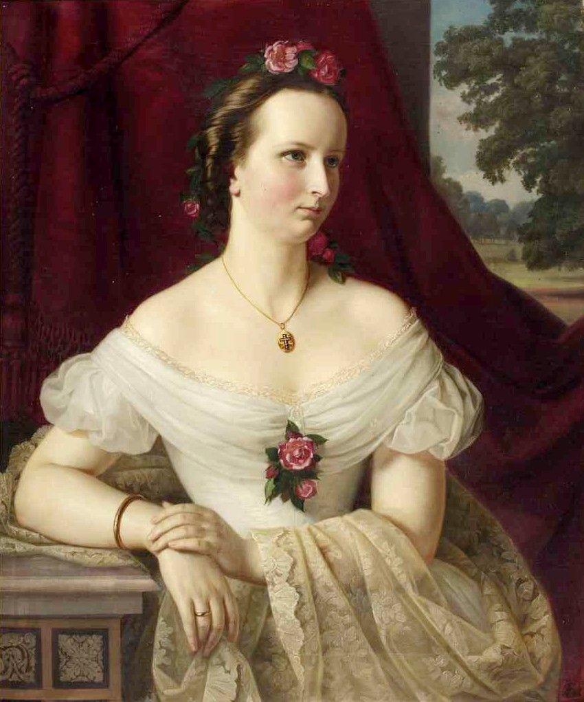 Carl Wilhelm Friedrich Oesterley (1805-1891) — Portrait of Juliane Gräfin von Brockdorff,1865 (850x1021)