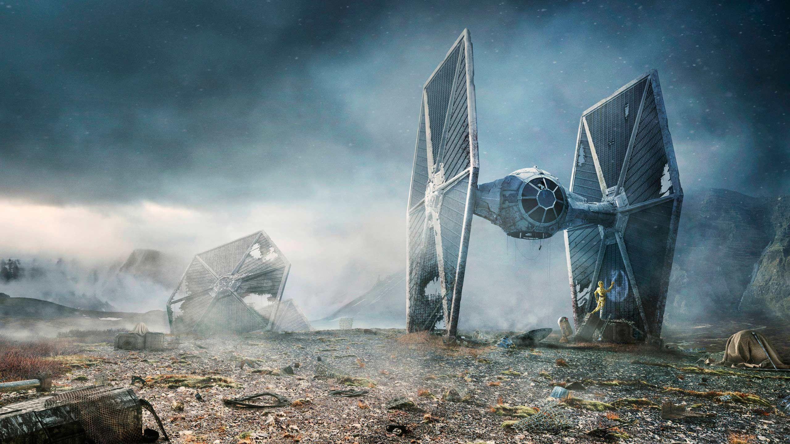 Free Tie Fighter Star Wars Computer Desktop Wallpapers Pictures Images