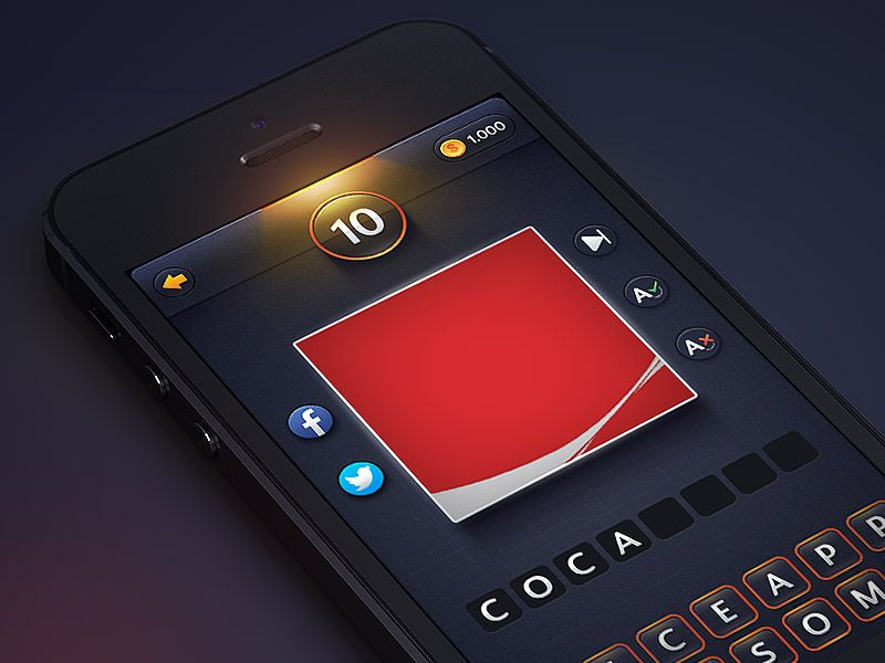 Guess The Brand Sneak Peak Mobile design, Mobile app