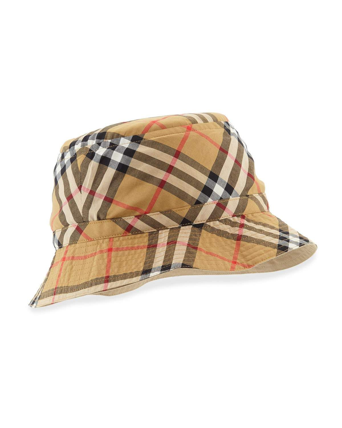 eab8a44e9b55f Burberry Vintage Check Bucket Hat