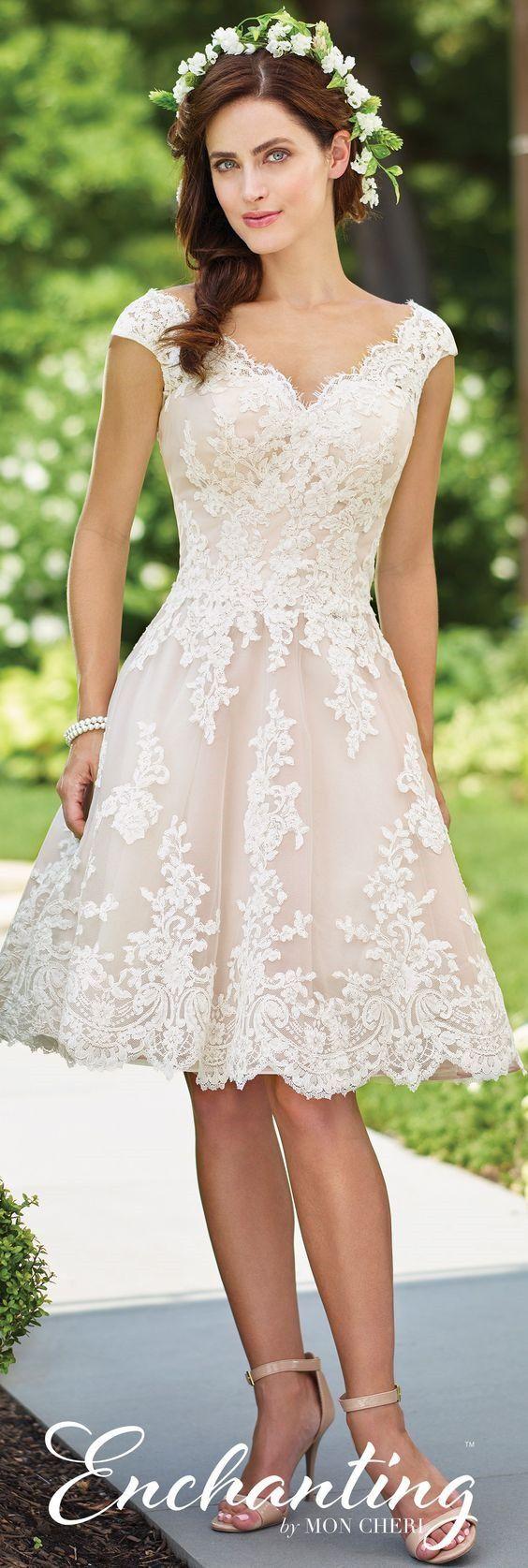 20+ Flattering Tea Length Wedding Dresses