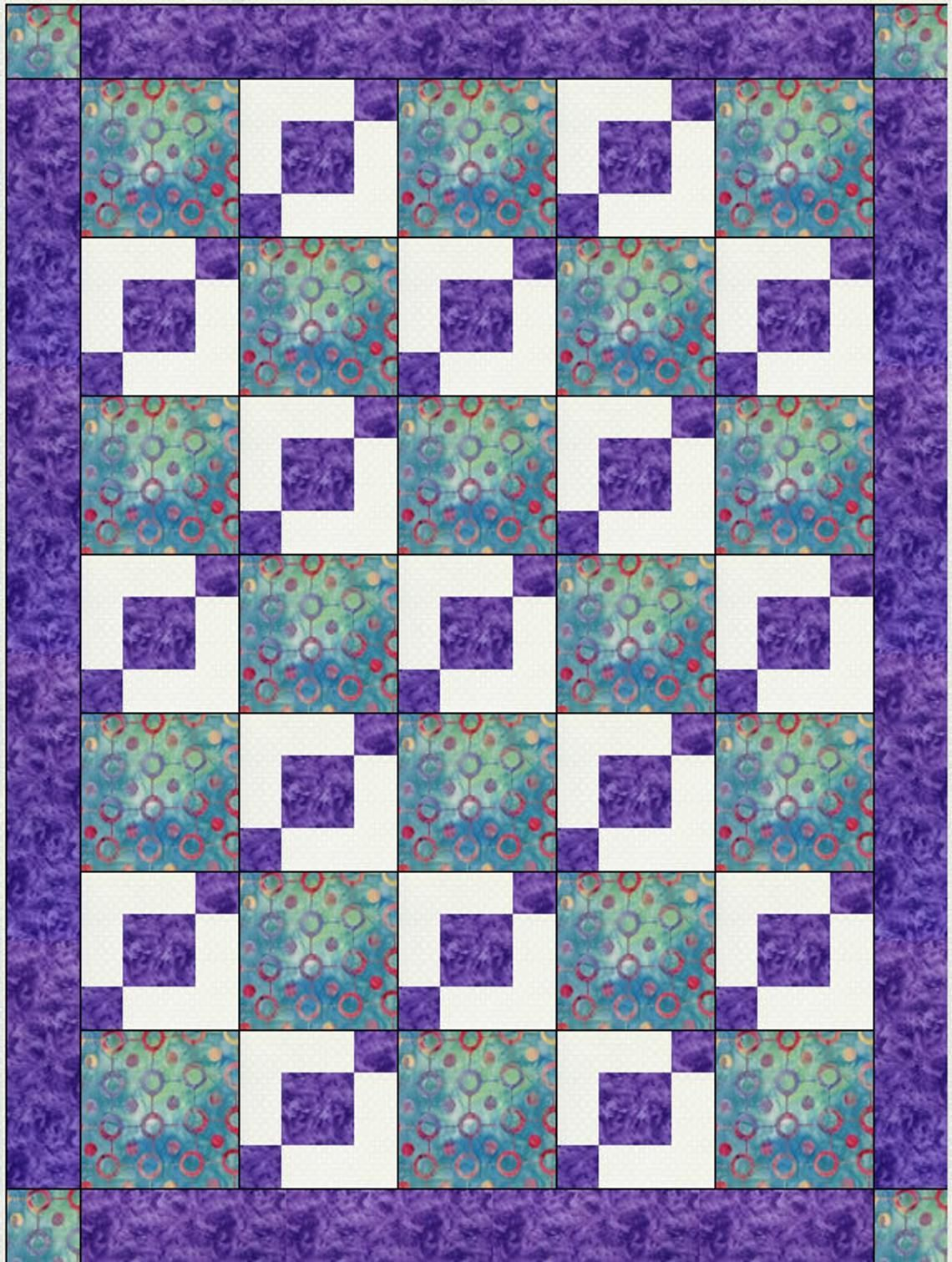 Downloadable Stepping Stones Quilt Pattern Easy 3 Yard Design 8211 Quilt Block Patterns In 2020 Quilt Block Patterns Easy Quilt Patterns Quilt Patterns