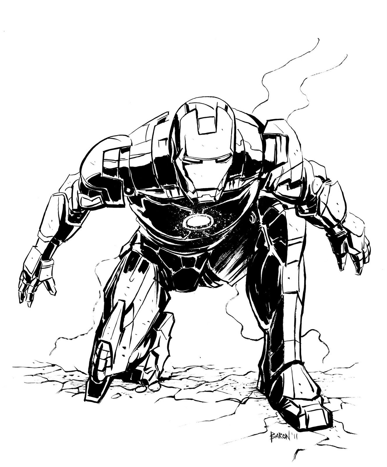 Desenhos, Homem De Ferro Y Super Herói