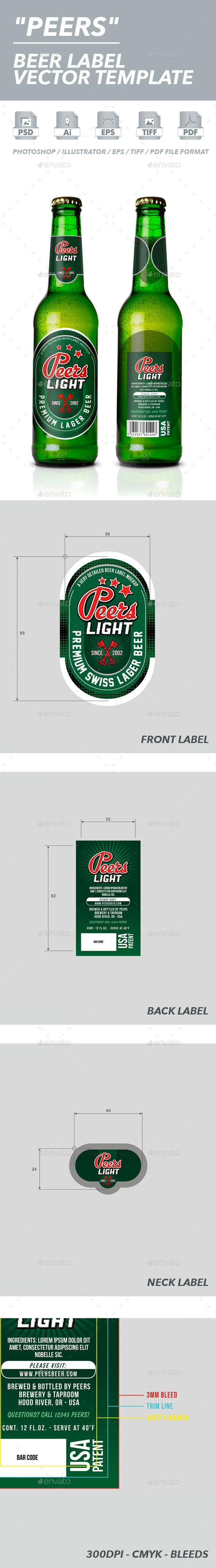 Beer Label Vector Template – Abel Templates Psd