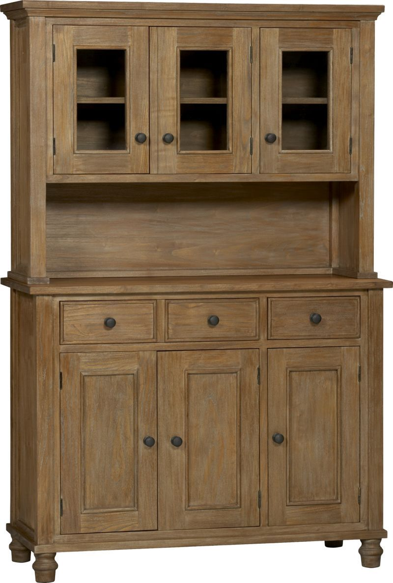 Kipling Grey Wash Buffet With Hutch Top