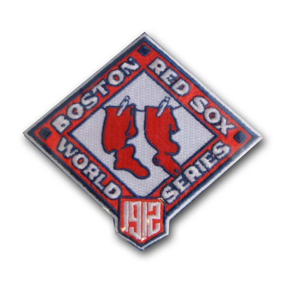 Mlb World Series Logo Patches 1912 Red Sox Mlb World Series Red Sox Patch Logo