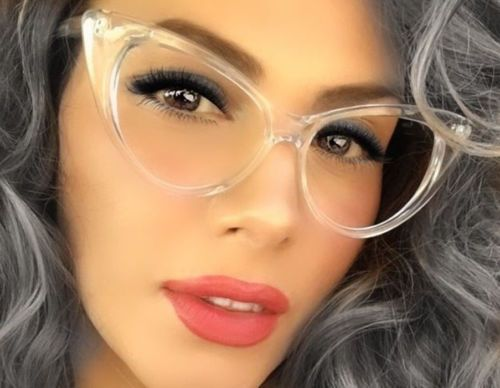 95778258f5ad Details about Women VINTAGE RETRO 60s CAT EYE Style Clear Lens EYE ...