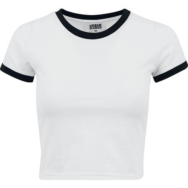 12ca1bb62 Ladies Cropped Ringer Tee (340 UYU) ❤ liked on Polyvore featuring tops