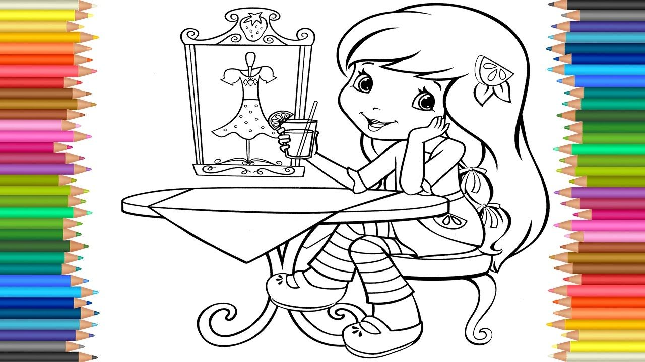Coloring Pages Strawberry Shortcake, Cherry Jam, Lemon
