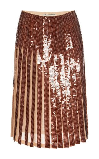 Paillette Embellished Pleated Skirt by EMILIO PUCCI for Preorder on Moda Operandi