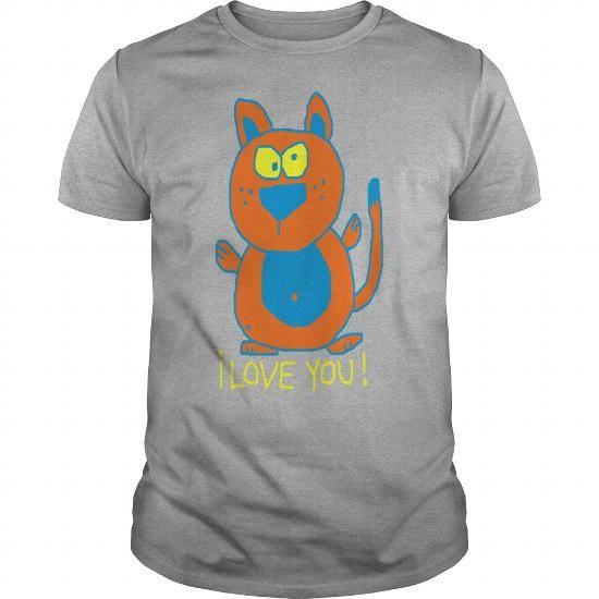 I Love you Coffee Mug tea Cat Kitty Funny