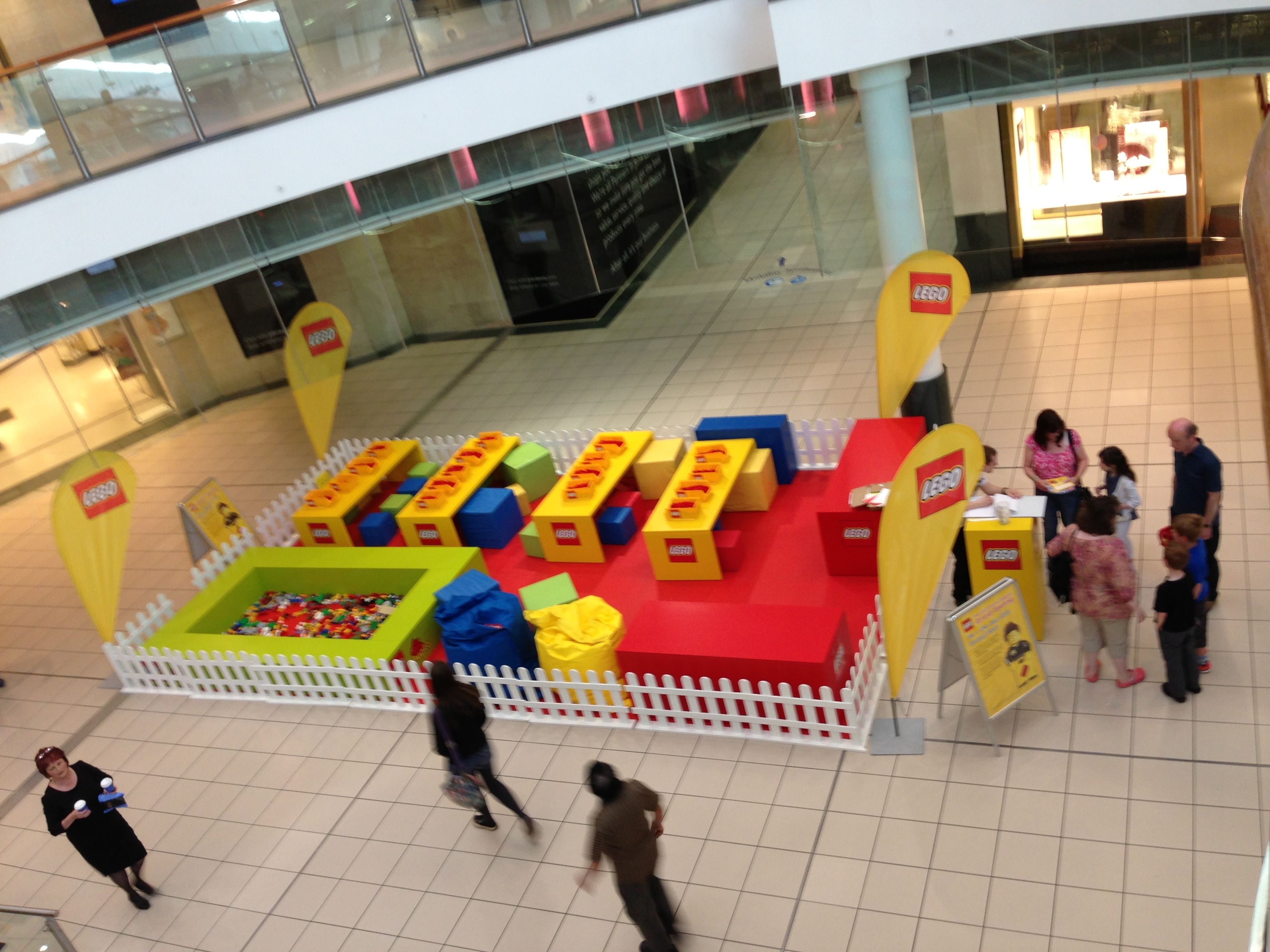 Lego play area for the opening of Lego Store at Buchanan Galleries, Glasgow