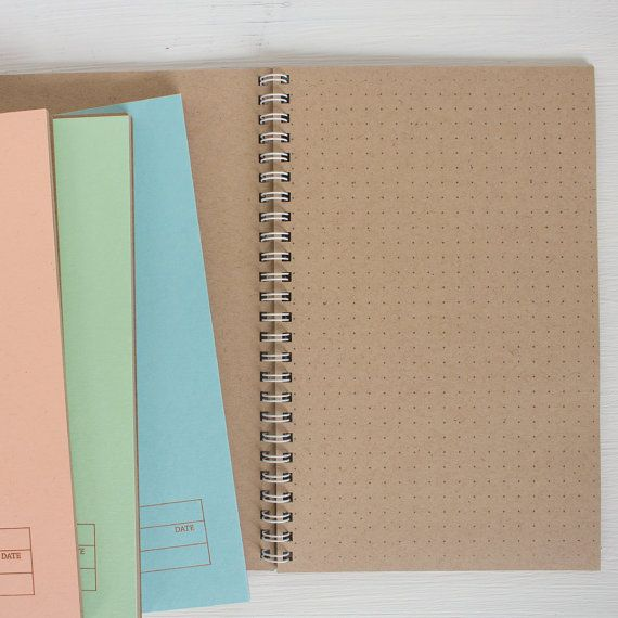 Pressed Travel Notebook With Kraft Dot Grid Pages, 2020