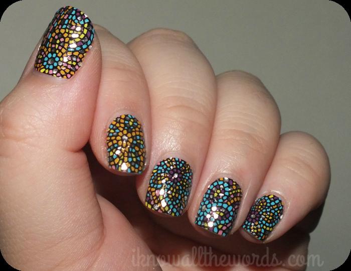 notd: avon 'mosaic flowers' nail art design strips - Notd: Avon 'mosaic Flowers' Nail Art Design Strips Mosaic