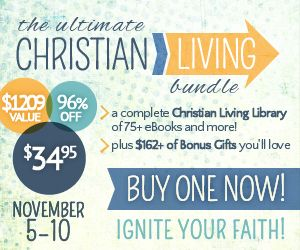 This Christian Living Bundle includes best selling authors and top business professionals to address the most common challenges faced by families today. Just $34.95 which is a 96% savings! November 5-10 only.