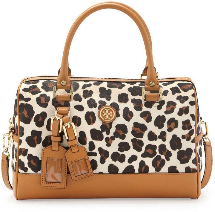 88bb2e98aad8 Tory Burch Kerrington Leopard-Print Satchel Bag