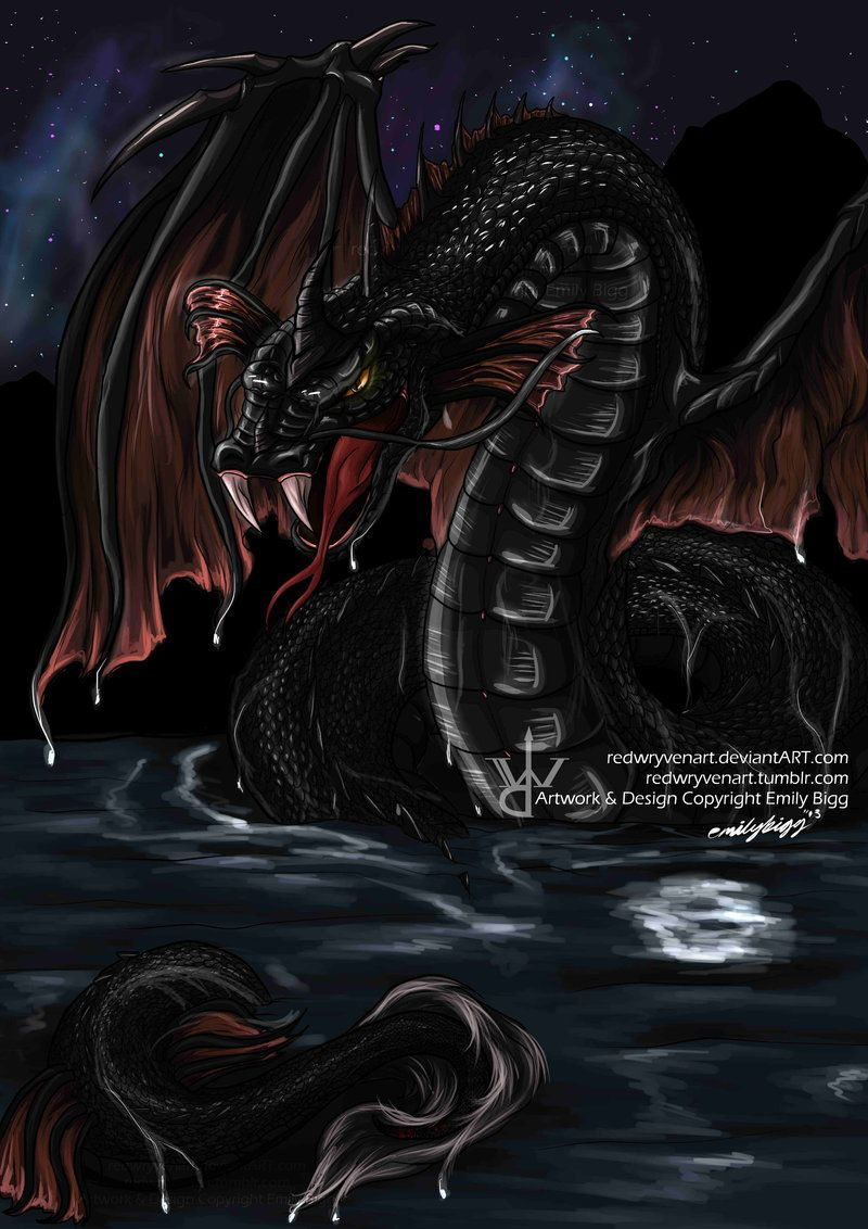 Bakunawa +Filipino Legend+ by RedWryvenArt.deviantart.com on @deviantART